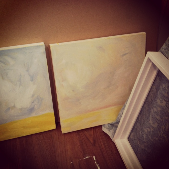 "Underpainting... The start of ""This place"", and ""That Place"""