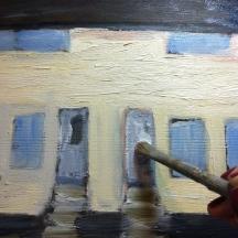 painting door