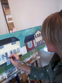 amy barrett at painting