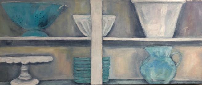 Open Shelf Dishes, 16x38